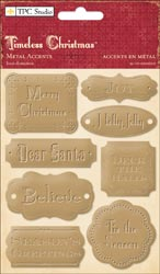 Timeless Christmas Self-Adhesive Metal Accents