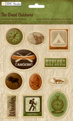 Great Outdoors Framed Dome Stickers