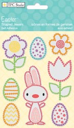 Easter Self-Adhesive Shaped Jewels