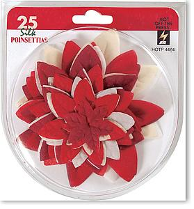 Silk Poinsettias