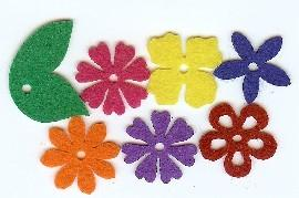 Felt Blossoms & Leaves - Small Bright