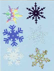 Shimmer Snowflakes - Large