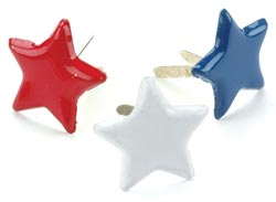 Star Brads - Red, White, Blue (50)