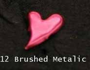 Curved Heart Brads - Brushed Metallic Pink (50)