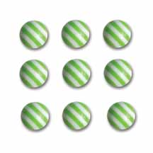 Candy Striper Round Embellishments - Kiwi Kiss