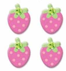 Jeweled Pink Strawberries Braddies Brads