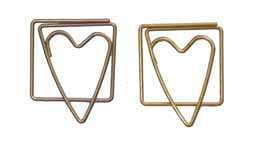 Heart Clips - Pewter & Brushed Gold