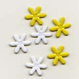 Daisy Brads - White & Yellow (50)