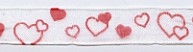 Ribbon, Red Heart Organdy