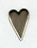 Country Heart Brads - Pewter (50)