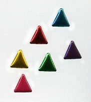 Triangle Brads (50) - Metallic