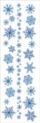 Snow Glitzy Snowflake Rub-ons with glitter