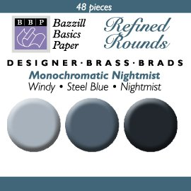 48 Round Mini Brads - Bazzill Nightmist