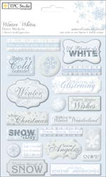 Winter Whites Dome Stickers