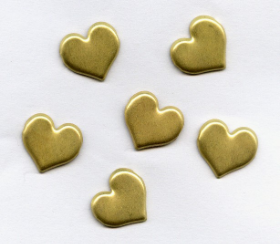 Heart Brads - Brushed Gold (50)