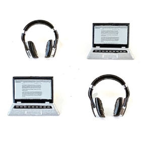 Laptop & Headphone Brads