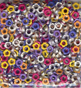 "Bulk 3/16"" Flower Eyelets (500) - Tropical"