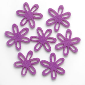 Felt Flowers - Small Purple