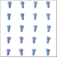 Feet Brads - 10 pair - Blue