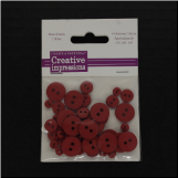 Resin Button Assortment (45 pcs) - Red
