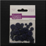 Resin Button Assortment (45 pcs) - Navy