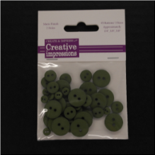 Resin Button Assortment (45 pcs) - Olive