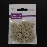 Resin Button Assortment (45 pcs) - Ecru