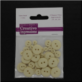Resin Button Assortment (45 pcs) - Vanilla Cream