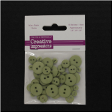 Resin Button Assortment (45 pcs) - Moss