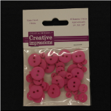 Resin Button Assortment (45 pcs) - Dark Pink