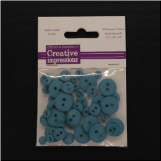 Resin Button Assortment (45 pcs) - Aqua