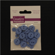 Resin Button Assortment (45 pcs) - Country Blue