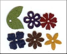 Felt Blossoms & Leaves - Small Heritage