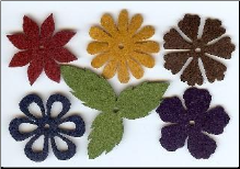 Felt Blossoms & Leaves - Medium Heritage