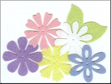 Felt Blossoms & Leaves - Large Pastel