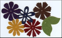 Felt Blossoms & Leaves - Large Heritage
