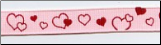 Ribbon, Pink with Red Hearts