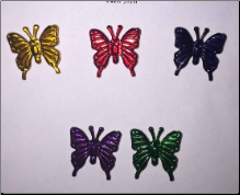 Butterfly Brads - Metallic (25)
