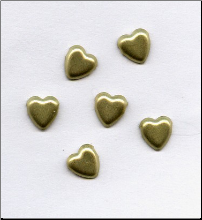 Heart Mini Brads - Brushed Gold (100)