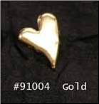 Curved Heart Brads -Gold (50)