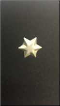 6 Point Star Brads - Brushed Gold (50)