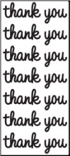 Thank You Cardstock Stickers - Black