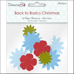 Back To Basics Christmas Blossoms - 30 Paper Flowers - Modern
