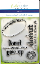 Donut Clear Stamp Set