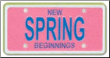 Spring License Plate
