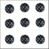 Polkies Dotted Rhinestones - Licorice