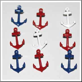 Anchor Brads - Red, White & Blue