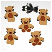 Teddy Bear Brads - Brown