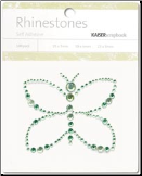 Butterfly Self-Adhesive Rhinestones - Mint