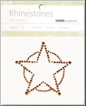Sheriff's Star Self-Adhesive Rhinestones - Copper